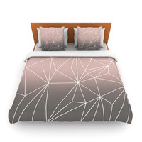 "Mareike Boehmer ""Simplicity 2X"" Brown Geometric Fleece Duvet Cover"