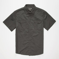 Retrofit Ian Boys Shirt Heather Black  In Sizes