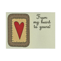 Labels, From my heart to Yours, 1/pkg Woven Label, Premade sewing, quilting, sewing labels