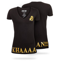Khaaan V-Neck Ladies' Tee - Black,