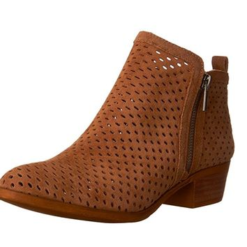 Lucky Brand Basel 3 Sesame Oiled Suede Booties