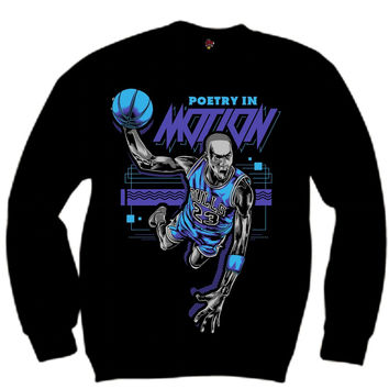 The Fresh I Am Clothing Poetry in Motion Aqua 8s Crewneck