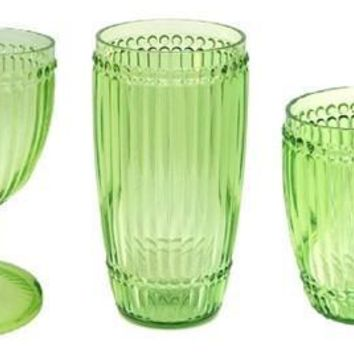 Milano Outdoor Drinkware - Light Green - Set of 6
