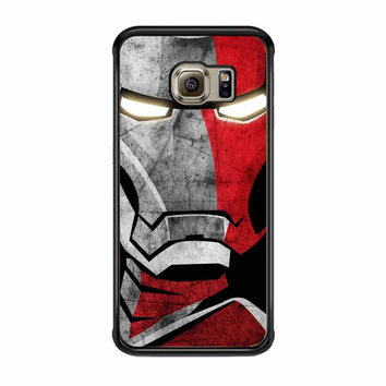 Iron Man Face Cover Samsung Galaxy S6 Edge Case