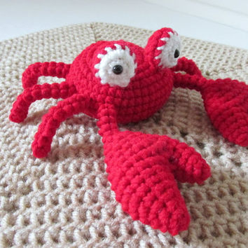 Crab Lovey PDF Crochet Pattern - INSTANT DOWNLOAD