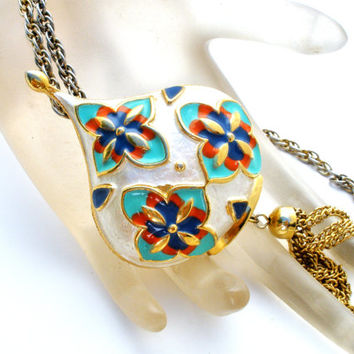 Park Lane Necklace, Pendant Brooch, Egyptian Revival, Fashion Jewelry, Gold tone, 24 Inches Long, Jewelry Fashion, Stylish Accessory, Womens