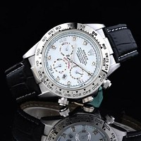 Rolex Fashionable Women Men Business Movement Watch Wristwatch