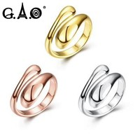 G.A.O 2017 Bridal Sets Engagement Rings for Women Femme Jewellery Love Rings Anillos Mujer Bague De Mariage Pour Femme or Blanc