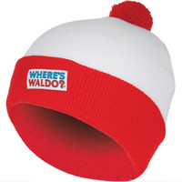 Where's Waldo - Patch Logo Pom Pom Knit Hat