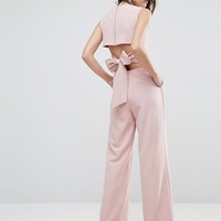 ASOS Jumpsuit with Tie Back at asos.com