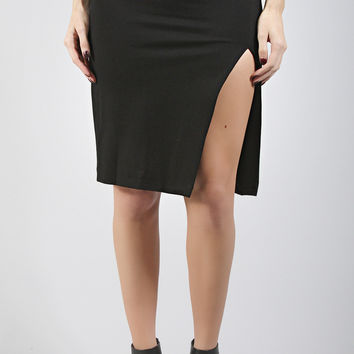 working hard slit pencil skirt