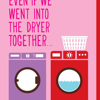 Dryer Match Valentine's Day Card
