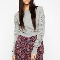 BCBGMAXAZRIA - SHOP BY CATEGORY: TOPS: VIEW ALL: BCBGENERATION ORIGAMI-SLEEVE SWEATER