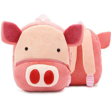 Cute Pink Pig School Bags For Boys/Girls Piggy Plush Toy Baby Boy/Girl Backpack Kindergarten Bags Children's Gifts For Age 2-4