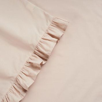 DCCKX8J LC Lauren Conrad 300 Thread Count Ruffle Sheet Set