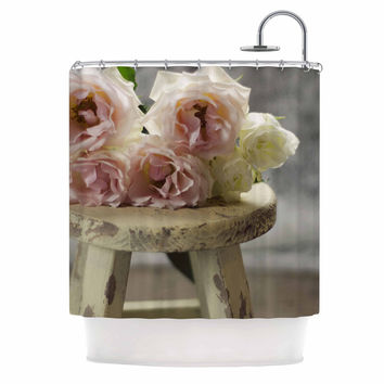 "Cristina Mitchell ""Roses on Stool"" Floral Photography Shower Curtain"