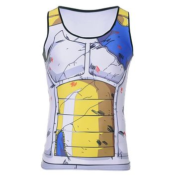 Twelve Styles Hip-Hop Band Rocker 3D Print Dragon Ball Z Super Saiyan 3D Tee Men's T-Shirt O Collar Shirt Top Camisetas