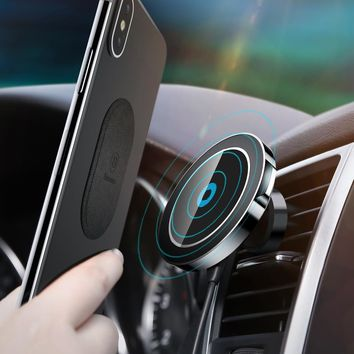 Wireless Magnetic Car Phone Charger