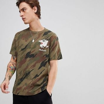 Maharishi T-Shirt In Camo With Tiger at asos.com