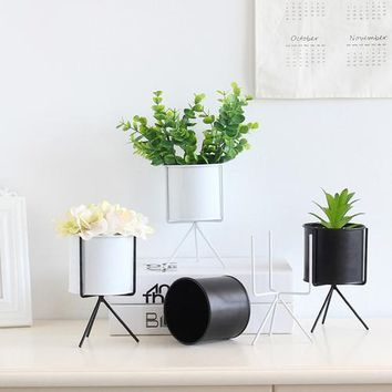 Modern Mini Ceramic Planter Decor