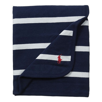 Ralph Lauren Baby YD Rugby Blanket French Navy Multi - Zappos.com Free Shipping BOTH Ways