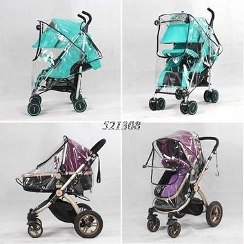 Universal Waterproof Rain Cover Wind Dust Shield For Baby Stroller Pushchair