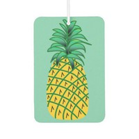 Car Air Freshener with Pineapple Art