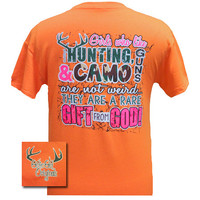 Girlie Girl Originals Funny Girls Hunt Guns Camo Rare Gift from God Southern Bright T Shirt