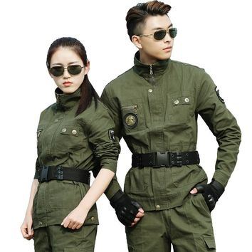 Hunting Jacket Men Military Camouflage Tactical Jacket Army Training Combat Jacket Sports Hiking Coat Bomber Jackets Army Green