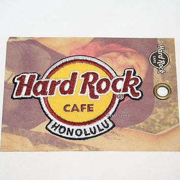 Licensed cool 2016 Hard Rock Cafe Honolulu Hawaii Embroidered HRC logo IRON ON Patch Badge