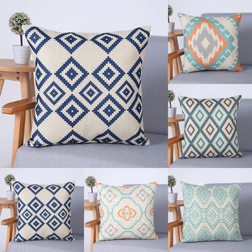 Geometric Colorful Pillow Euro Cover Decorative Massager Decorative Pillows Home Decor Gift