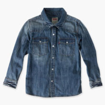 Boys' Levi's Todder Barstow Western Shirt - Blue - Kids
