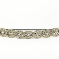Pink Pewter Amber Stretch Band-Silver