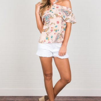 Blissful Petals Top, Pink