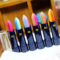 Fashion Women Mix Two-Colors Gradient Lipstick Lip Gloss Lip Stick Cream Beauty Brand Makeup Cosmetics