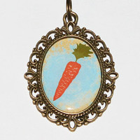 Carrot Pendant Necklace