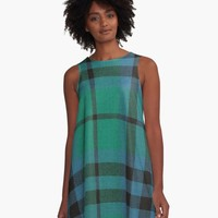'AUSTIN ANCIENT TARTAN' A-Line Dress by IMPACTEES