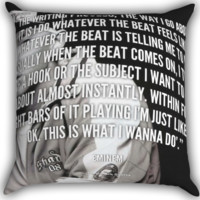 Eminem Quote A0353 Zippered Pillows  Covers 16x16, 18x18, 20x20 Inches