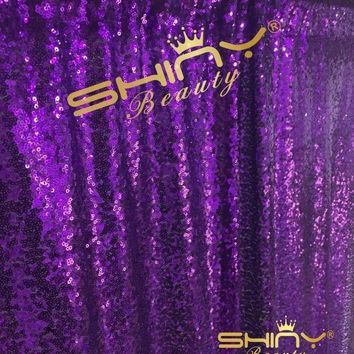 PHOTO BOOTH BACKDROP Best Choice 4FT*6FT NEW Purple Sequin Photobooth Backdro...