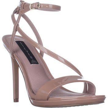 STEVEN Steve Madden Rees Ankle Strap Dress Sandals, Nude Patent, 8.5 US