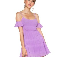 Lavender Dreaming Off Shoulder Dress