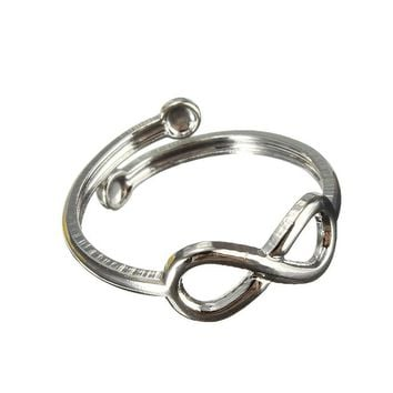 Simple Retro Design Toe Ring Adjustable Foot Jewelry Gifts For Women SL