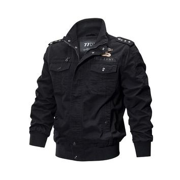 Military Pilot Jackets Men Spring Autumn Bomber Cotton Coat Tactical Army Jacket Male Casual Air Force Flight Jacket
