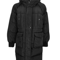 Zoe Boutique Longline Padded Quilted Coat | Boohoo