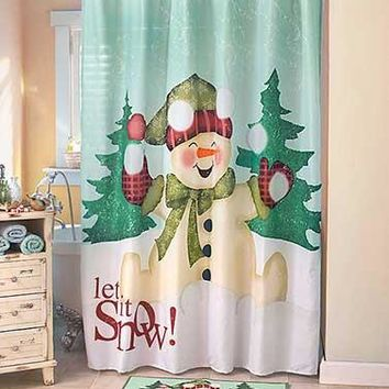 Let it Snow Snowman Bathroom Collection