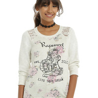 Disney Tangled Floral Live Your Dream Girls Pullover Top