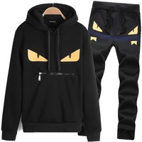 Fendi Men Jogger Hoodies Sweatpants set Sportswear - Best Deal Online