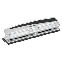 Swingline® 3 Hole Punch, 10 Sheet Capacity - Silver/Black : Target