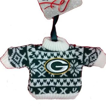 Green Bay Packers Knit Sweater Ornament