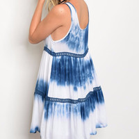 Layered Tie Dye Mini Dress